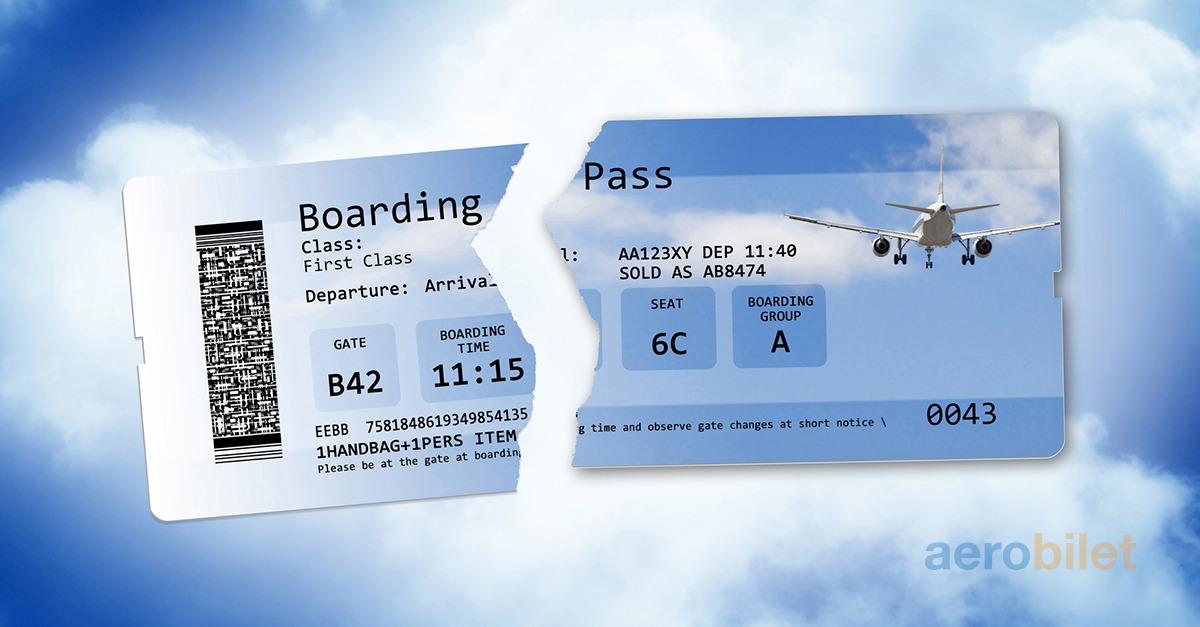 الإلغاء تذاكر الطيران